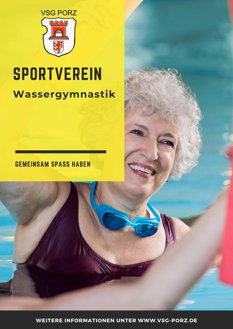 VSG PORZ Poster Wassergymnastik